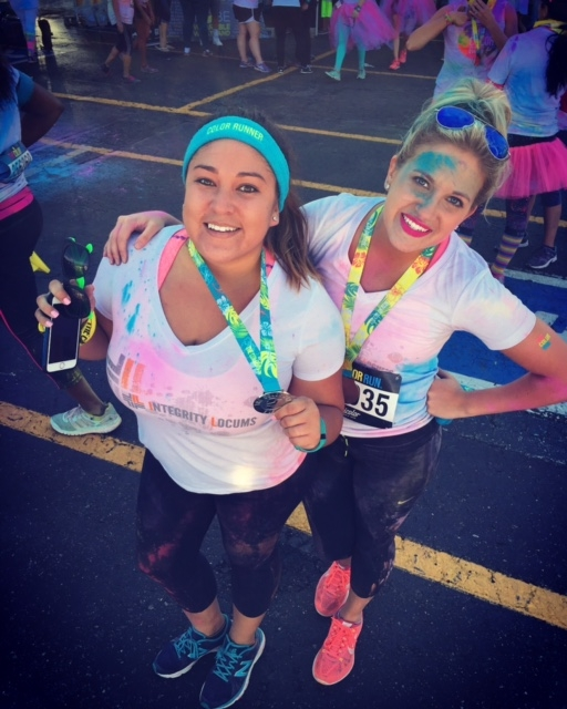 color run nikki and lindsy